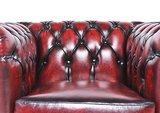 Chesterfield Sessel Original Leder   Antik Rot   12 Jahre Garantie_